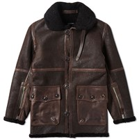 Nigel Cabourn Ww1 Sheepskin Jacket Brown