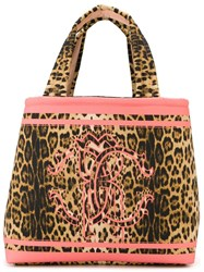 Roberto Cavalli Leopard Print Tote Bag Nude And Neutrals