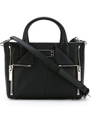 Alexander Mcqueen Zip Detailed Tote Black