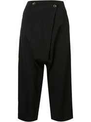 Song For The Mute Cropped Trousers Black