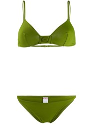 Eres Decorative Button Bikini Green