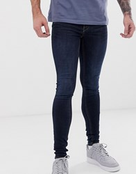 Blend Of America Flurry Extreme Skinny Fit Jeans In Indigo Wash Blue