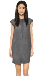 The Kooples Henley T Shirt Dress Middle Grey