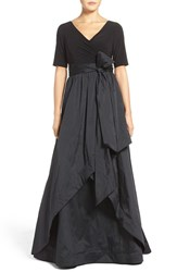 Adrianna Papell Women's High Low Taffeta Ballgown