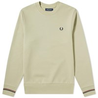 Fred Perry Authentic Tipped Cuff Crew Sweat Green