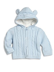 Hartstrings Baby's Hooded Cable Knit Cardigan Light Blue