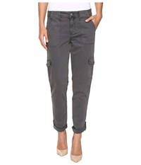 Level 99 Stacey Relaxed Cargo Gloomy Women's Casual Pants Gray