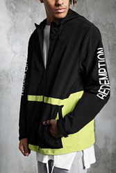 Forever 21 Redemption Colorblock Jacket Black Yellow