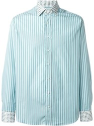 Etro Striped Shirt Green