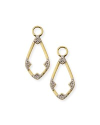 Jude Frances 18K Lisse Open Diamond Kite Earring Charms Gold