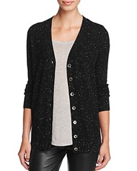 Bloomingdale's C By Cashmere Button Front Cardigan 100 Exclusive Black Donegal