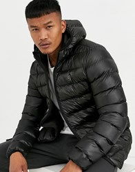 Sik Silk Siksilk Hooded Puffer Jacket In Black