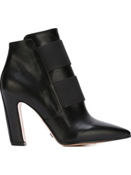 Viktor And Rolf Chunky Heel Strap Boots Black