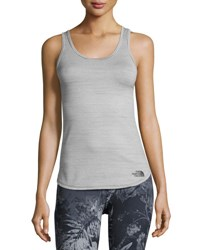 The North Face Motivation Striped Tank Tnf Black Heather