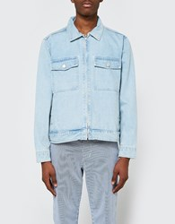 Stussy Washed Denim Garage Jacket Light Blue