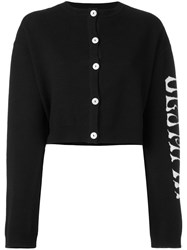 Olympia Le Tan Griffin Cardigan Black