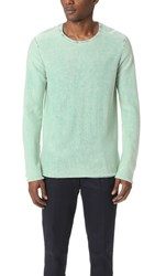 Scotch And Soda Garment Dyed Crew Neck Pullover Mint