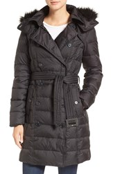 Sam Edelman Women's Faux Fur Trim Down Coat