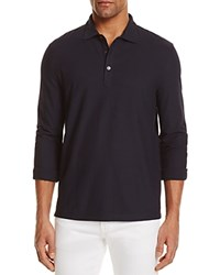 Bloomingdale's The Men's Store At Cotton Regular Fit Long Sleeve Polo Shirt True Navy