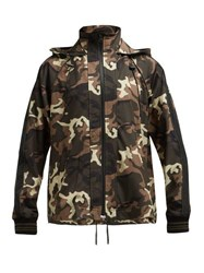 The Upside Ash Camouflage Print Hooded Jacket Green Multi