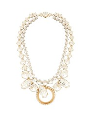 Miu Miu Crystal Embellished Necklace Crystal