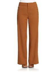 424 Fifth Twill Flannel High Waisted Trousers Toffee