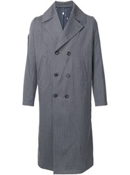 Undercover Panelled Double Breasted Coat Grey
