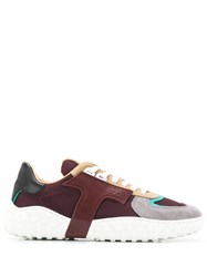 Tod's Panelled Sneakers Brown
