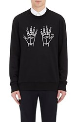 Lanvin Men's 10Th Anniversary Embroidered Sweatshirt Black