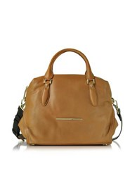 Francesco Biasia Jasmine Leather Satchel Bag Cognac