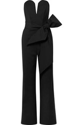 Michael Lo Sordo Lover Belted Cady Jumpsuit Black