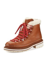 Rag And Bone Compass Shearling Fur Lined Hiking Boot Tan Tan Camel