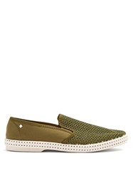 Rivieras Classic 20 Slip On Canvas Loafers Khaki