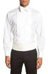 Men's Robert Talbott 'Protocol' Silk Cummerbund And Bow Tie Set White