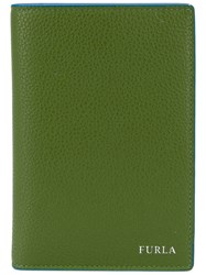 Furla 'Giove' Passport Case Green