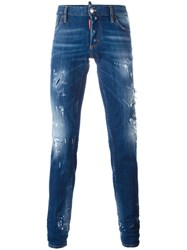 Dsquared2 Slim Distressed Jeans Blue