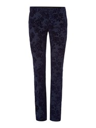 Noose And Monkey Men's Skinny Tuxedo Trousers Navy