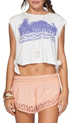Women's Rip Curl 'Live The Search' Crop Side Tie Sleeveless Tee
