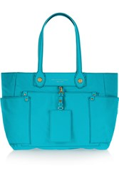 Marc By Marc Jacobs Clara Leather Trimmed Shell Tote Blue