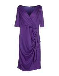 Ivan Montesi Knee Length Dresses Purple