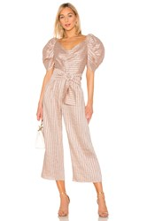 C Meo Collective Through You Jumpsuit In Shell Pink
