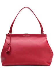 Myriam Schaefer Snap Closure Shoulder Tote Red