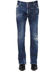 Dsquared 24Cm High Waisted Stretch Denim Jeans