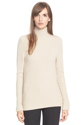 Tracy Reese Rib Knit Turtleneck Sweater Oatmeal