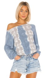 Young Fabulous And Broke Knox Top In Blue. Sky Frequency Wash
