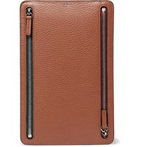 Smythson Burlington Full Grain Leather Currency Case Tan