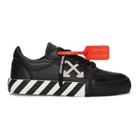 Off White Black And Vulcanized Low Sneakers