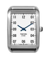Tom Ford Medium Brushed Stainless Steel Watch Head Silver