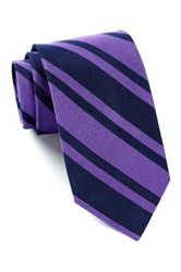 Ben Sherman Diagonal Stripe Printed Tie Purple