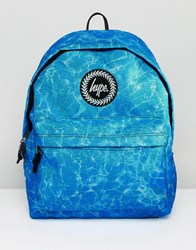 Hype Backpack In Blue Water Print Blue